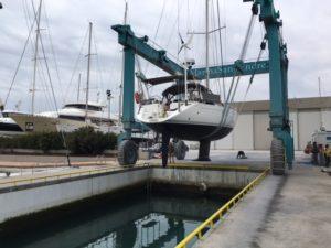 Manutenzione barca a vela Penelope 1